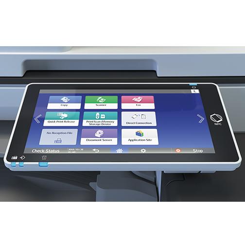 Многофункциональное устройство IM C2000 — вид спереди